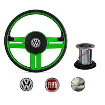 Volante Modelo Rallye verde volkswagen chevrolet fiat - Cabeça car
