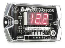Voltímetro Digital JFA Slim V12 com Saída Remote - Visor Vermelho -