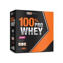 Voxx 100 Pro Whey Protein Sabor Morango com 900g - Nutracom