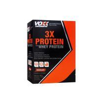 Voxx Suplementos 3X Protein Com Whey Protein 300G Sabor Chocolate -