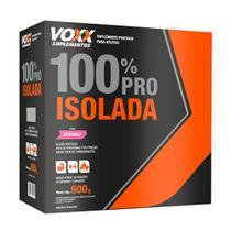 Voxx Whey Protein 100% Pro Isolada Morango Sachê 900g -