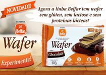 Wafer belfar chocolate sem glúten 50g - Olvebra