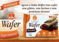 Wafer belfar chocolate sem glúten 50g - Olvebra -