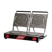 Wafleira Máquina de Waffles Redonda Dupla MWRD Croydon -
