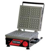 Wafleira Quadrada Croydon Mwqs Elétrica 4 Waffles -