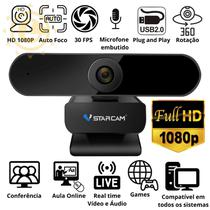 Webcam 1080P Full HD VStarcam Camera com microfone Visão 360 Auto foco -