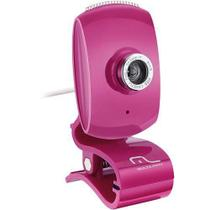 Webcam C/ Microfone USB Rosa Multilaser - WC048