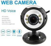 Webcam Câmera HD 720P USB 2.0 Com 6 Leds Microfone e Visão Noturna Lehmox - LEY-53 -