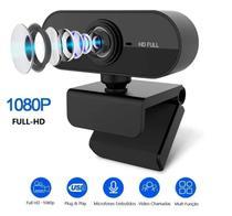 Webcam Microfone Câmera Full Hd 1080p Computador Plug & Play Microfone Embutido - EPLANETATECH