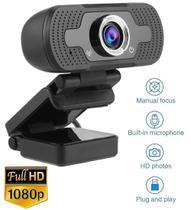Webcam Microfone Câmera Full Hd 1080p Computador Plug & Play Microfone Embutido - lxshop