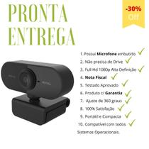 Webcam Microfone Full Hd 1080p Camera Computador Plug & Play