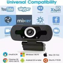 Webcam Microfone Full Hd 1080p Camera Computador Plug & Play -