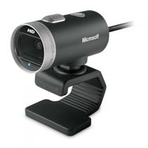 Webcam Microsoft Lifecam Cinema 720p HD Preto - USB, Com Microfone