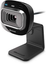 Webcam Microsoft LifeCam HD-3000, Widescreen, 720p, USB, Preta, T3H-00011 - Microsoft -