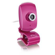 Webcam Multilaser Facelook Com Microfone Usb Rosa