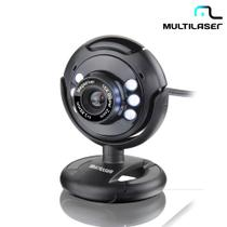 Webcam Multilaser Night Vision 16MP Led Preto WC045