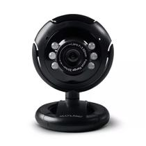 Webcam Multilaser Nightvision WC045, Plug  Play, 16 MP, Microfone, USB - Preto