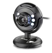 Webcam Multilaser Plug E Play 16Mp Nightvision Microfone Usb Preto WC045 -