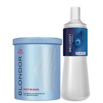 Wella Blondor M Blond Pó Descolorante Dust Free + Ox 40 Vol -