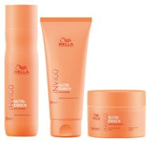 Wella Invigo Nutri Enrich Shampoo (250ml), Condicionador (200ml) e Máscara (150ml) -