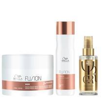 Wella Professionals Fusion + Oil Reflections Kit - Máscara + Shampoo + Óleo -