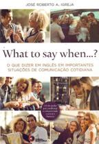 What To Say When... - Com Cd - Disal