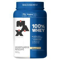 Whey 100% Concentrado Pote 900g - Max Titanium -