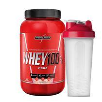 Whey 100% Pure 907g + Coqueteleira Integral - Integralmédica