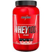 Whey 100% Pure 907g - Integralmédica - Morango -