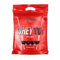 Whey 100% Pure Refil (907g) - Integralmédica - Morango -