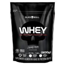 Whey 100% Whey Protein Refil 900g Caveira Preta  Black Skull -
