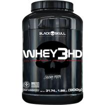 Whey 3 hd morango 900g - black skull