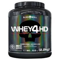 Whey 4hd - 2,2kg (whey protein isolado e concentrado) - Black Skull