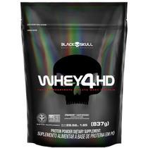 Whey 4hd refil - 837g (whey protein isolado e concentrado) - Black Skull