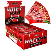 Whey bar chocolate com amendoim 24 unid - Integral
