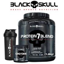 Whey Blend 1.8kg + Creatine 150g + Brinde - Black Skull