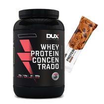 Whey Concentrado 900g Cookies + Proteinsnack Castanha - Dux Nutrition
