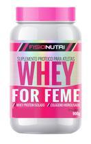 Whey femme - whey protein isolado com colágeno hidrolisado - baunilha - FISIONUTRI