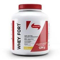 Whey Fort 100% Whey Protein Premium Baunilha Vitafor 1800g -