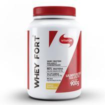 Whey Fort 100% Whey Protein Premium Baunilha Vitafor 900g -