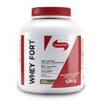 Whey Fort 100% Whey Protein Premium Brown Chocolate Vitafor 1800g -