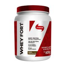 Whey Fort 100% Whey Protein Premium Brown Chocolate Vitafor 600g -
