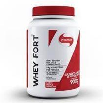 Whey Fort 100% Whey Protein Premium Frutas Vermelhas Vitafor 900g -