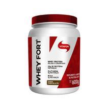 Whey Fort Isolado e Concentrado Sabor Chocolate 600g - Vitafor -