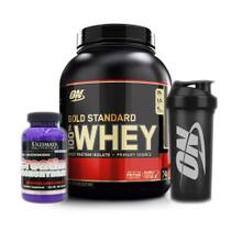 Whey Gold Standard 2.270g Baunilha +Creatina +bottle Optimum - K-fit