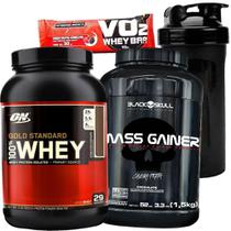 Whey Gold Standard Optimum + Hipercalorico Massa Gainer - Optimum nutrition