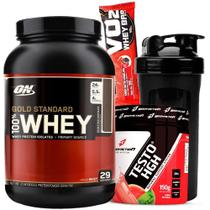 Whey Gold Standard Optimum On + Testo HGH Testosterona Natural - Optimum nutrition