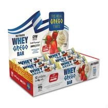 Whey Grego Bar 40g Caixa 12 Unidades Nutrata -