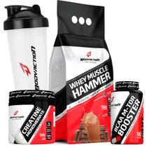 Whey Hammer 1.8kg + Bcaa + Creatina + Shaker - Body Action