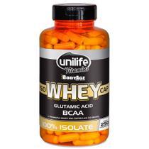 Whey Iso Cap 100% Isolate 550 mg 250 Cápsulas Unilife -
